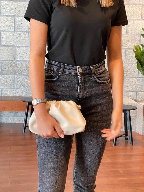 Allure Cream Mini Pouch Bag