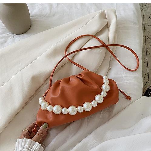 Allure Orange Pearl Mini Pouch Bag
