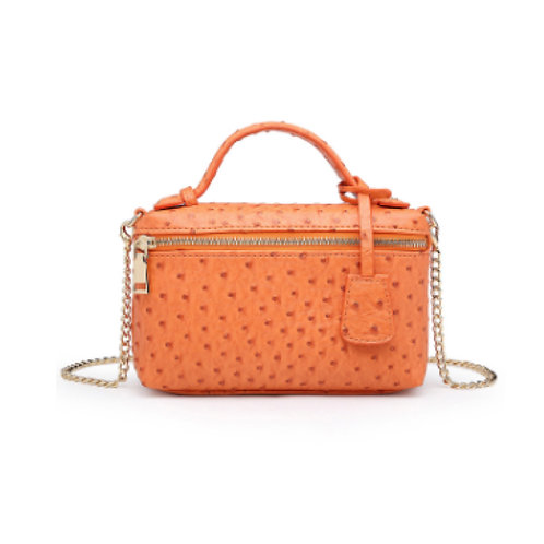 "Allure Orange ""Ostrica"" Zipped Shoulder Bag"