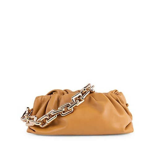 Allure Brown Chained Pouch Bag