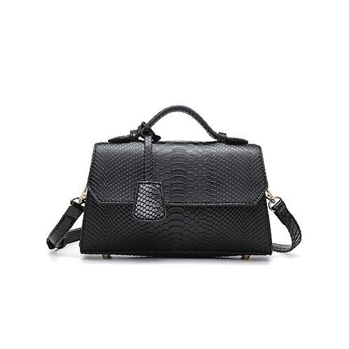 """Allure Black """"Serpent"""" Handbag"""