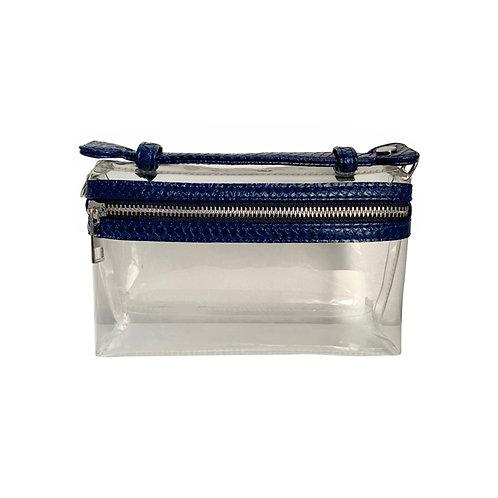 """Allure PVC Navy """"Serpent"""" Lined Shoulder Bag"""