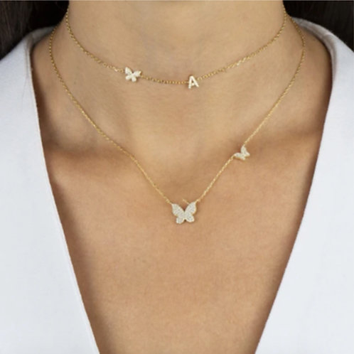 18K Gold Plated Butterfly Necklace