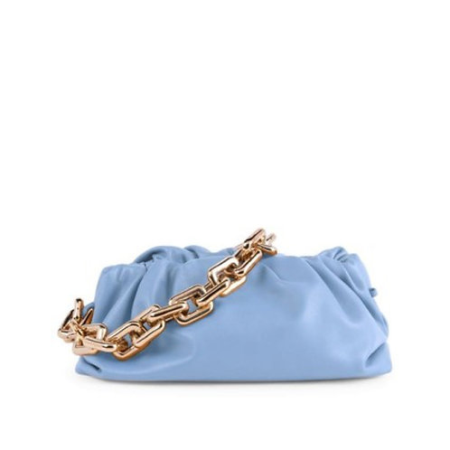 Allure Blue Chained Pouch bag