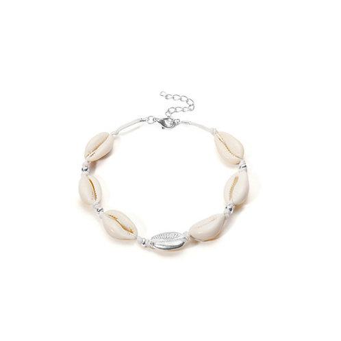 Milanetta Cowrie Seashell & Silver Detail Bracelet