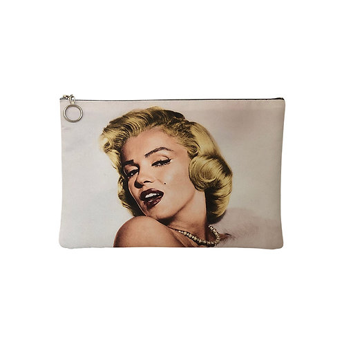 Milanetta Cream Marilyn Monroe Makeup Pouch