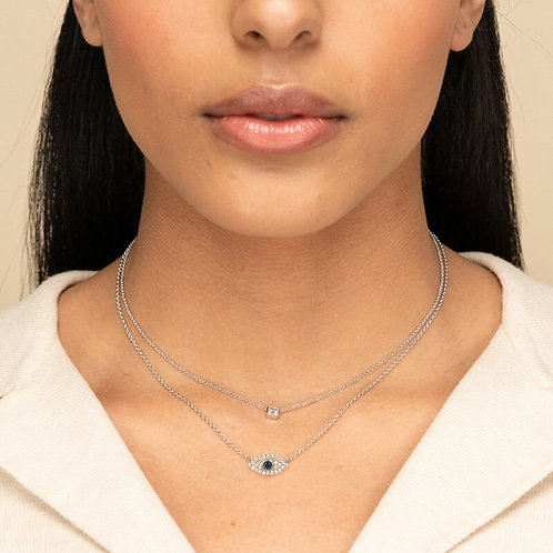 925 Sterling Silver Evil Eye Necklace