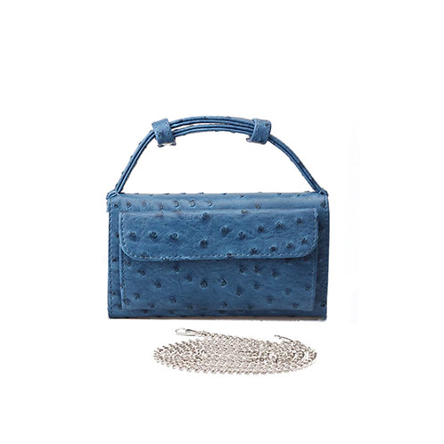"Allure Blue ""Ostrica"" Wallet On Chain Bag"