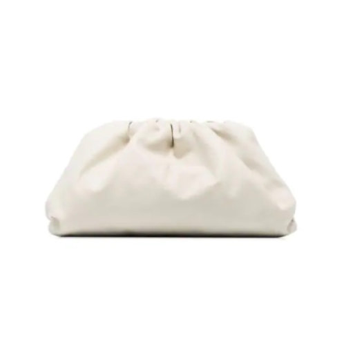 Allure White Large Pouch Bag