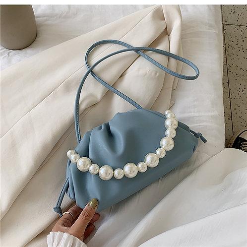 Allure Blue Pearl Mini Pouch Bag