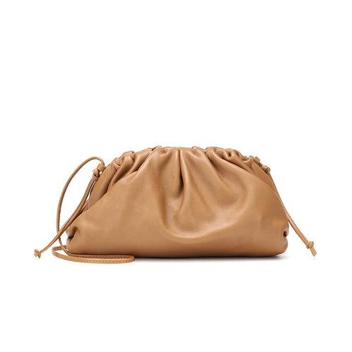 Allure Tan Brown Medium Pouch Bag