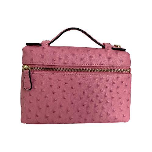 """Allure Pink """"Ostrica"""" Zipped Clutch"""