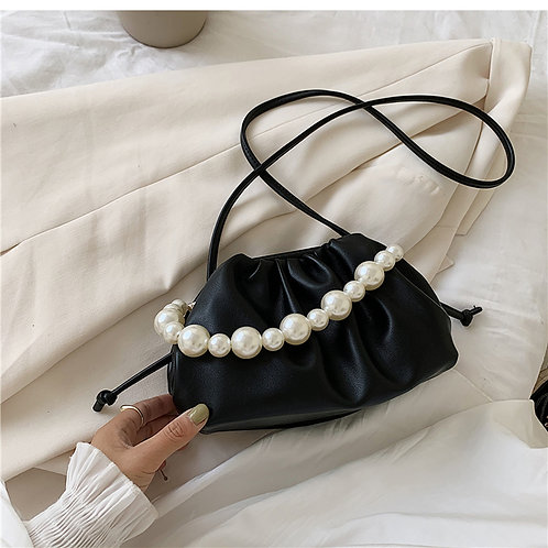 Allure Black Pearl Mini Pouch Bag