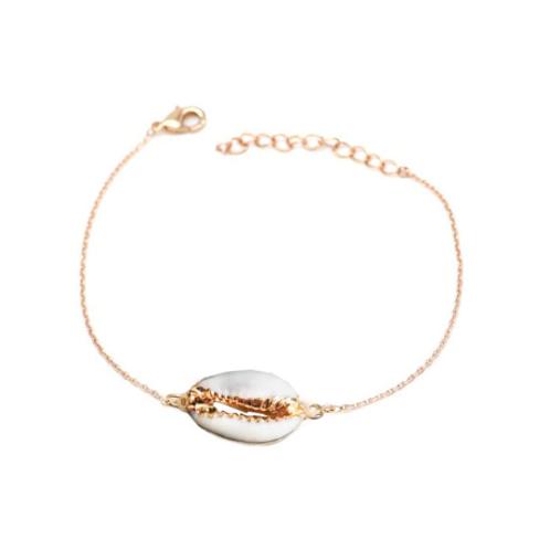 Milanetta Gold Single Cowrie Seashell Bracelet