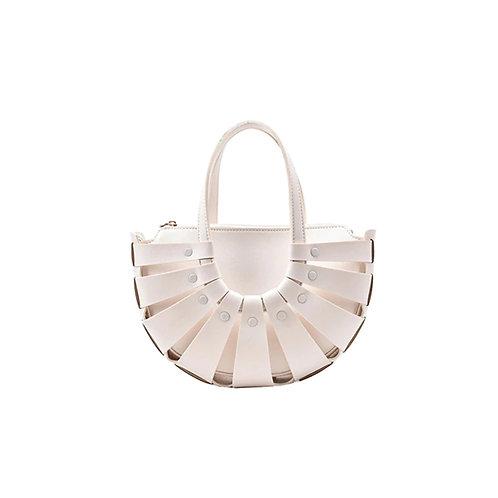 Allure White Shell Bag