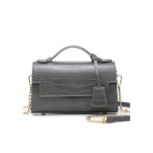 """Allure Grey """"Croco"""" Handbag"""