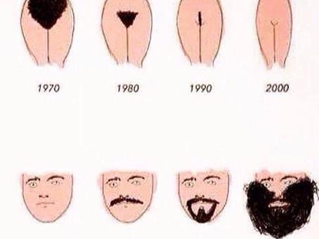Correlation between ladies under hair and men's facial hair?