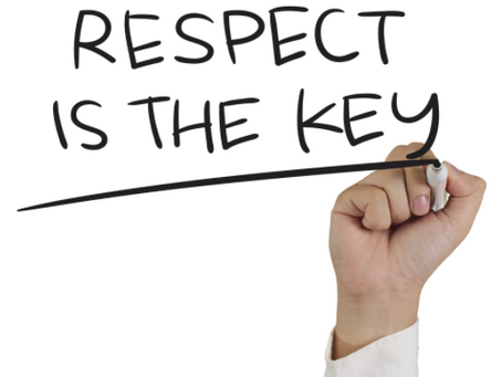 Be treated with respect whoever you are!