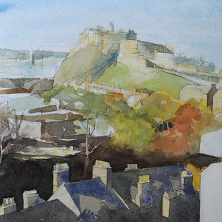 Edinburgh Castle from the National Museum of Scotland 2020 SOLD