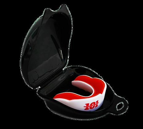 מגן שיניים בוגרים - לבן/אדום + קופסה