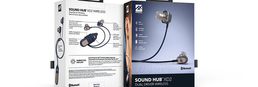 iFrogz Audio Sound Hub Wireless Earbud XD2, Navy