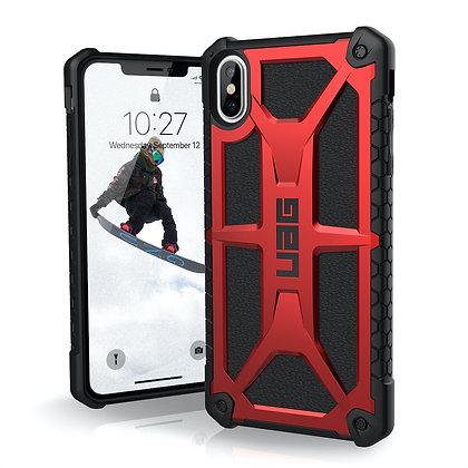 """UAG iPhone Xs Max 6.5"""" Monarch Case, Crimson"""