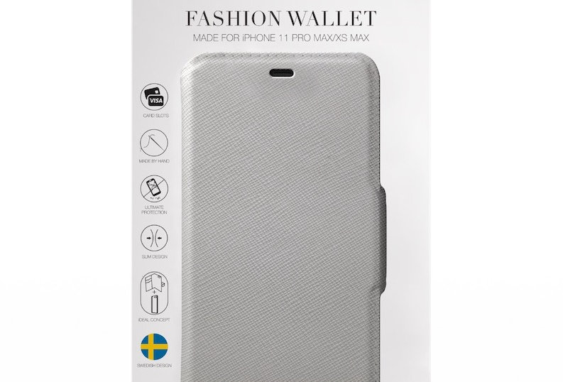 iDeal Of Sweden 11 Pro Max Fashion Wallet, Light Grey