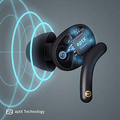 mFish True Wireless Stereo Earbuds, Black