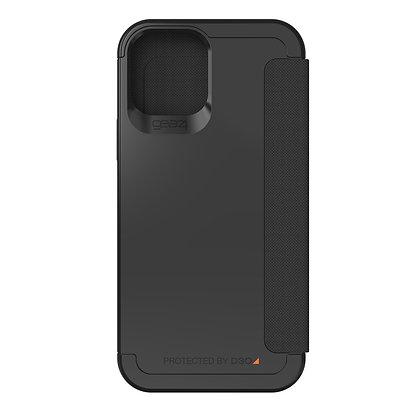 """Gear4 iPhone 12 / iPhone 12 Pro 6.1"""" D3O Wembley Flip, Black"""