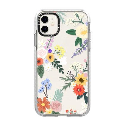 Casetify Impact Case iPhone 11, Frost Allie Alpine Florals