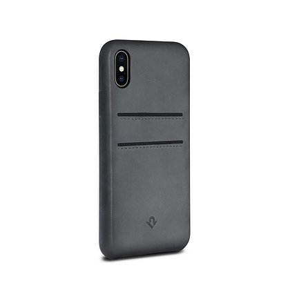 Twelve South Relaxed Leather with Pockets iPhone X/Xs, Earl Grey