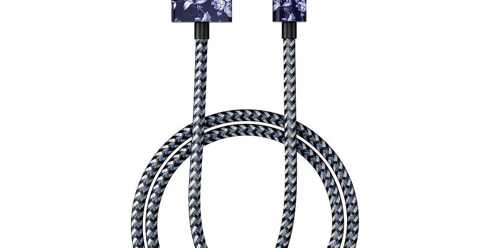 iDeal Of Sweden Fashion Lightning Cable (MFI), 1M Sailor Blue Bloom