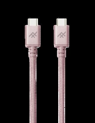 iFrogz Unique Sync Premium USB-C 3.1 To USB-A 3.1 Nylon Braided Cable, 1M