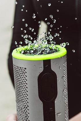Braven Speaker Stryde 360 Degree Sound Waterproof Bluetooth, Silver/Green