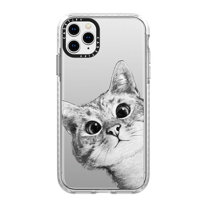 Casetify Impact Case iPhone 11 Pro Max, Peekaboo Cat On Rose Gold