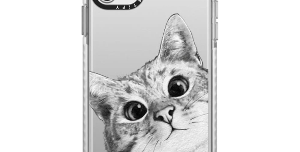 Casetify iPhone 11 Pro Max Impact Case, Peekaboo Cat On Rose Gold