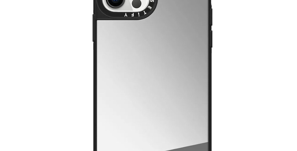 Casetify iPhone 12 | 12 Pro Mirror Case, Silver
