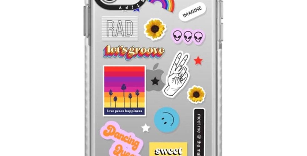 Casetify iPhone 11 Pro Max Impact Case, Sticker Fest