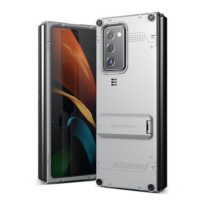 VRS DesignSamsung Galaxy Z Fold 2Damda QuickStand Case, Light Silver