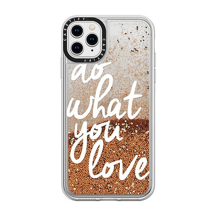 Casetify Gold Chrome Do What You Love Glitter Case