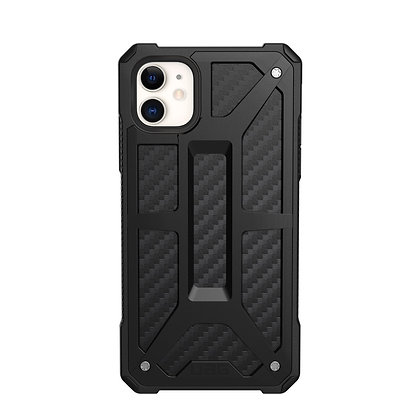 "UAG iPhone 11 6.1"" Monarch Case, Carbon Fiber"