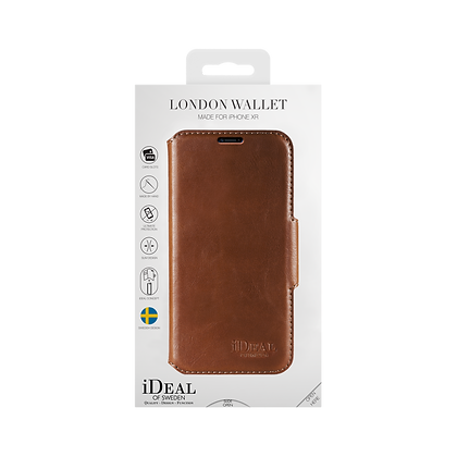 iDeal Of Sweden London Wallet iPhone XR, Brown