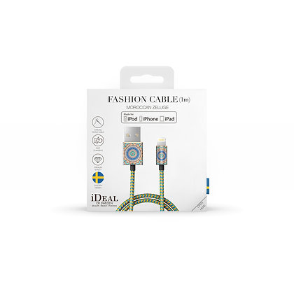 iDeal Of Sweden Fashion Lightning Cable, 2M Moroccan Zellige