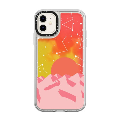 Casetify Neon Sand Case iPhone 11, Palm Springs Sunset