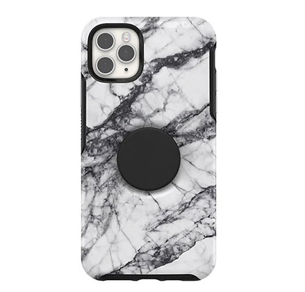 OtterBox Symmetry Otter + Pop iPhone 11 Pro Max, White Marble