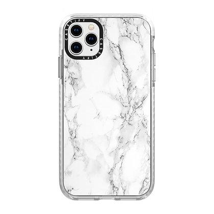 Casetify Impact Case iPhone 11 Pro, White Marble