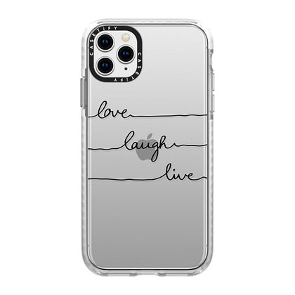 Casetify Impact Case iPhone 11 Pro Max, Frost Love Laugh Live