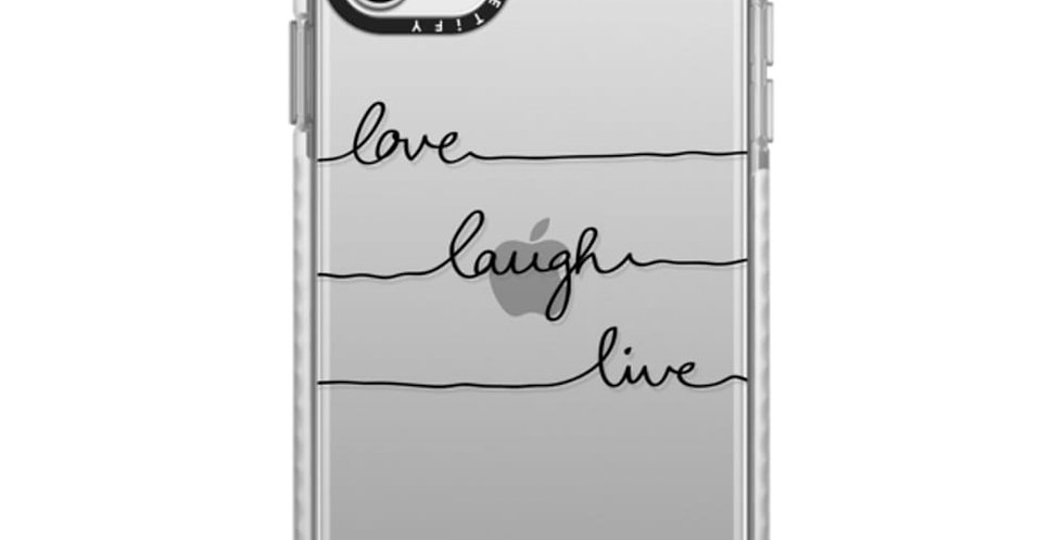 Casetify iPhone 11 Pro Max Impact Case, Frost Love Laugh Live