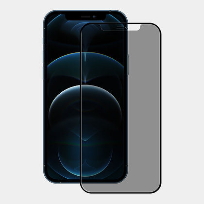 """Ugly Rubber iPhone 12 & 12 Pro 6.1"""" Tempered Glass, Privacy"""