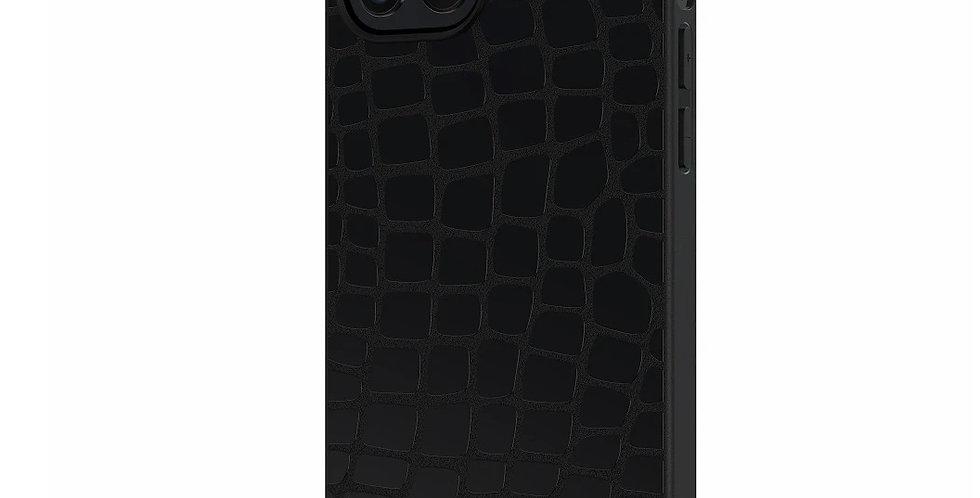 Devia iPhone 12 Pro Max Elegant Leather Case, Black